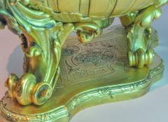 Fine Quality Gilt Bronze centerpiece Jardiniere with Mermaid Figural Handles - 1434978