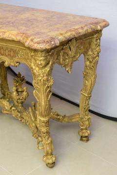 Fine Regence or Early Louis XV Giltwood and Marble Top Console Table - 40513