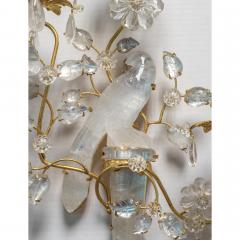Fine Set of Four Bagu s Style Gilt Bronze Carved in Rock Crystal Wall Sconces - 1442076