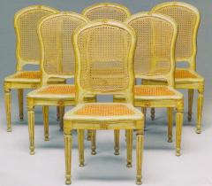 Fine Set of Six Italian 18th Century Painted and Parcel Gilt Chairs - 1995888