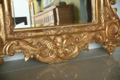 Fine and Monumental Italian Baroque Giltwood Mirror - 358364