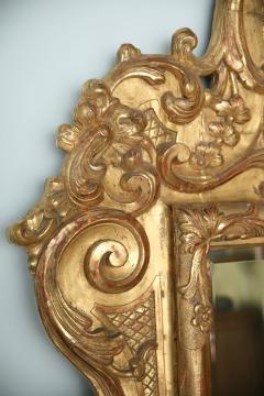Fine and Monumental Italian Baroque Giltwood Mirror - 358366