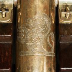 Fine pair of 19th Century English 41 barrel bronze cannon - 826800