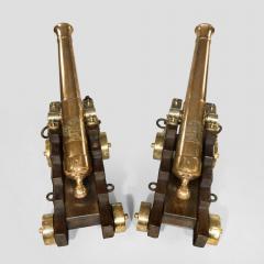 Fine pair of 19th Century English 41 barrel bronze cannon - 826801