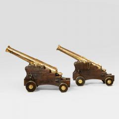 Fine pair of 19th Century English 41 barrel bronze cannon - 826803