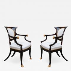 Fine pair of Neoclassical Armchairs - 1594595