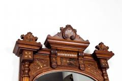Finely Carved Mahogany Wood Victorian Style Hanging Mirror - 1038040