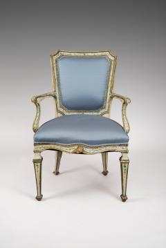 Finely Painted Pair of Louis XVI Venetian Armchairs - 118302