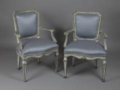 Finely Painted Pair of Louis XVI Venetian Armchairs - 118304