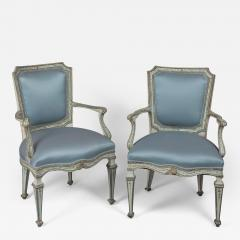 Finely Painted Pair of Louis XVI Venetian Armchairs - 122045