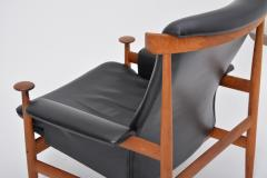 Finn Juhl Black Reupholstered Bwana Model 152 Lounge Chair by Finn Juhl for France Son - 902443