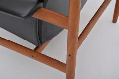Finn Juhl Black Reupholstered Bwana Model 152 Lounge Chair by Finn Juhl for France Son - 902445