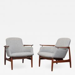 Finn Juhl Finn Juhl NV 53 Lounge Chairs for Niels Vodder - 2021090