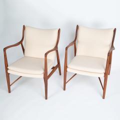 Finn Juhl Finn Juhl Pair Of Iconic 45 Lounge Chairs 1950s - 1524865