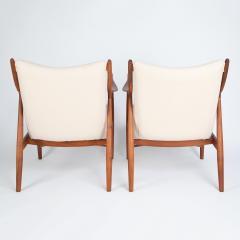 Finn Juhl Finn Juhl Pair Of Iconic 45 Lounge Chairs 1950s - 1524866