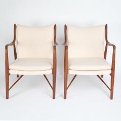 Finn Juhl Finn Juhl Pair Of Iconic 45 Lounge Chairs 1950s - 1524871