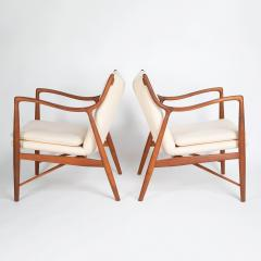 Finn Juhl Finn Juhl Pair Of Iconic 45 Lounge Chairs 1950s - 1524874