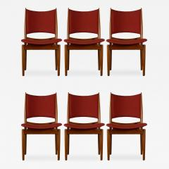 Finn Juhl Finn Juhl Set of 6 Egyptian Side Chairs - 193812