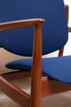 Finn Juhl Finn Juhl Teak Lounge Chairs Model FD 136 for France Daverkosen - 1290427