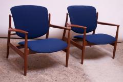 Finn Juhl Finn Juhl Teak Lounge Chairs Model FD 136 for France Daverkosen - 1290430
