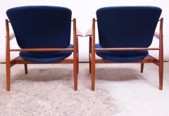 Finn Juhl Finn Juhl Teak Lounge Chairs Model FD 136 for France Daverkosen - 1290434