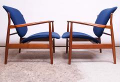 Finn Juhl Finn Juhl Teak Lounge Chairs Model FD 136 for France Daverkosen - 1290440