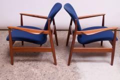 Finn Juhl Finn Juhl Teak Lounge Chairs Model FD 136 for France Daverkosen - 1290442