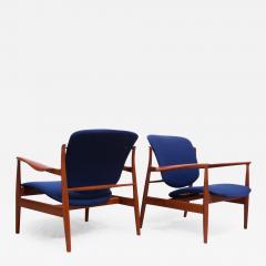 Finn Juhl Finn Juhl Teak Lounge Chairs Model FD 136 for France Daverkosen - 1291595