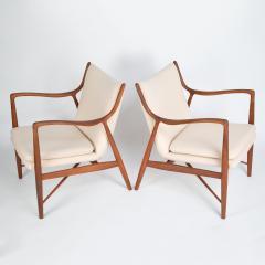Finn Juhl Pair of Finn Juhl 45 chairs for Baker Furniture circa 1960s - 1135688