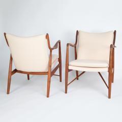 Finn Juhl Pair of Finn Juhl 45 chairs for Baker Furniture circa 1960s - 1135691