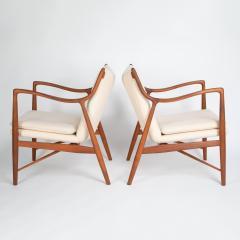 Finn Juhl Pair of Finn Juhl 45 chairs for Baker Furniture circa 1960s - 1135692