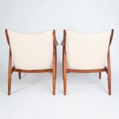 Finn Juhl Pair of Finn Juhl 45 chairs for Baker Furniture circa 1960s - 1135694