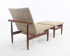Finn Juhl Rare Scandinavian Modern Japan Chair Ottoman by Finn Juhl - 1150914