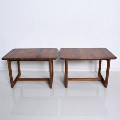 Finn Juhl Scandinavian Solid Teak Wood Side Tables Rectangular FINN JUHL Denmark 1980s - 2023792
