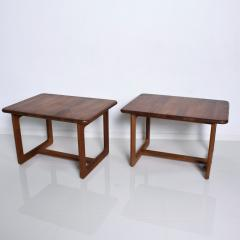 Finn Juhl Scandinavian Solid Teak Wood Side Tables Rectangular FINN JUHL Denmark 1980s - 2023793