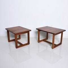 Finn Juhl Scandinavian Solid Teak Wood Side Tables Rectangular FINN JUHL Denmark 1980s - 2023794