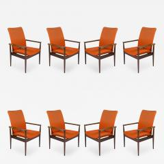 Finn Juhl Set of Eight Rosewood Finn Juhl Diplomat Armchairs - 176928