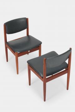 Finn Juhl Two Finn Juhl Model 197 Chairs Leather and Teak 60s - 1638659