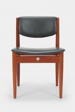 Finn Juhl Two Finn Juhl Model 197 Chairs Leather and Teak 60s - 1638660