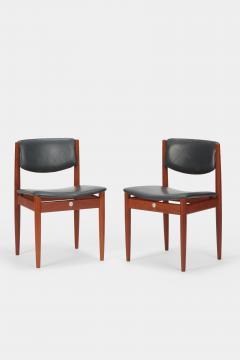 Finn Juhl Two Finn Juhl Model 197 Chairs Leather and Teak 60s - 1638661