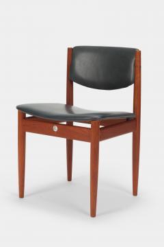 Finn Juhl Two Finn Juhl Model 197 Chairs Leather and Teak 60s - 1638678