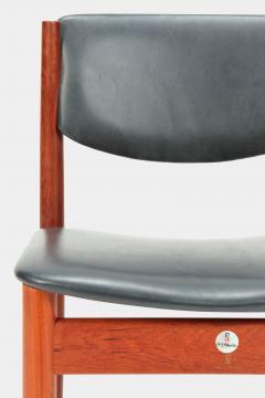 Finn Juhl Two Finn Juhl Model 197 Chairs Leather and Teak 60s - 1638681