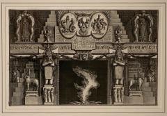 Fireplace Surround 1 Piranese Engraving Italy Circa 1760 - 1506655