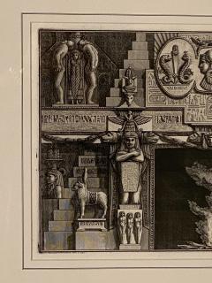 Fireplace Surround 1 Piranese Engraving Italy Circa 1760 - 1506656