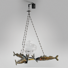Rare Early Chandelier 1836 - 6107