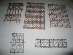 Five Islamic Wrought Iron Wall Decorations or Sculptures - 1876822