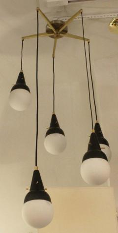 Five Pendant Fixture in the Manner of Stilnovo Italy 1950s - 101774
