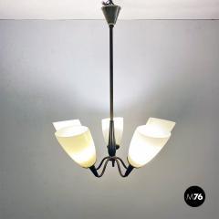 Five arm chandelier 1950s - 2034683