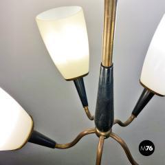Five arm chandelier 1950s - 2034688