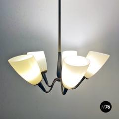 Five arm chandelier 1950s - 2034690